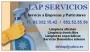 Lap servicios: limpieza domicilios. puestas a punto y mantenimientos
