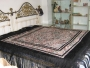 excepcional manton  de manila cantones en seda negra