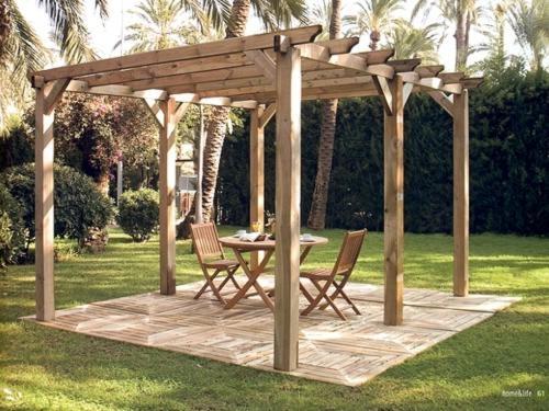 Fotos de pergolas y porches de madera alicante castell n - Porches de madera valencia ...