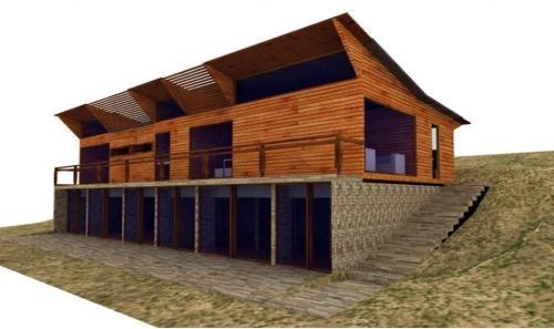 Fotos de casas de madera madrid casa chalet - Casas de madera en espana ...
