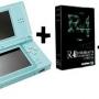 Nintendo ds lite ice blue edicion especial + r4 revolution + tarjeta