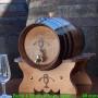 barril 4l. de roble frances con soporte