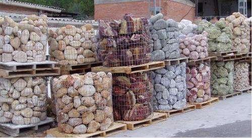 Fotos de piedra decorativas para jardines en colores 50 kg euros guadalajara casa jardin - Venta de piedras para jardin ...