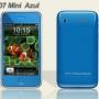 Mini hiphone azul, dual sim simultã¡neas, cã¡mara 2.0mp, mp3, mp4