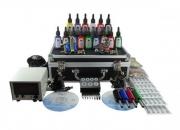 Equipos de  tatuaje profesional con 4 maquinas, 15 tintas y accesorios.