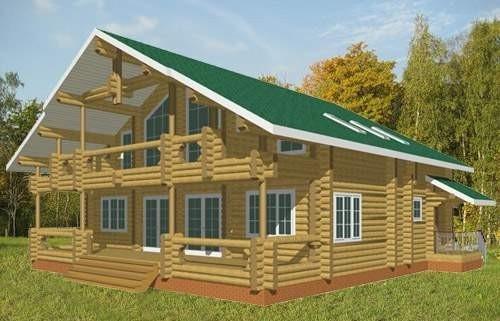 Fotos de casas de madera natural maciza - Casas de madera maciza ...