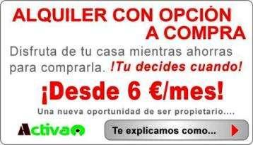 Seis euros/mes atico. alquiler con opción a compra. sevilla. montellano.