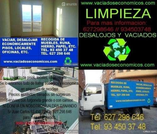 Vaciado de pisos recogida de muebles y desalojos inmediatos profesional(6272 ...