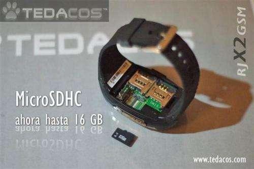 Reloj digital multimedia de pulsera con telefono movil dual sim