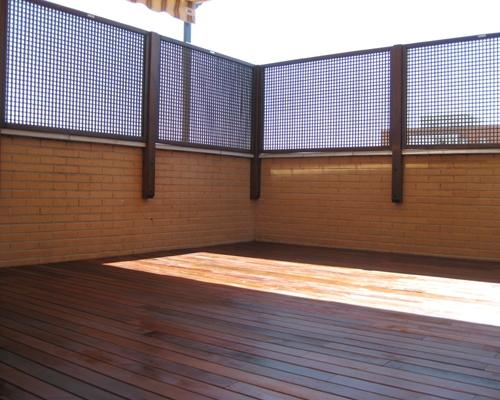 Barandillas madera tropical dise o m s exterior en madrid otros servicios 190966 - Barandillas para terrazas exteriores ...