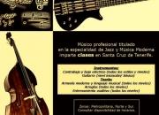 Clases de bajo, contrabajo, guitarra, armonia, lenguaje musical, entrenamiento auditivo