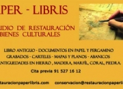 RESTAURACION DE LIBROS Y DOCUMENTOS EN MADRID