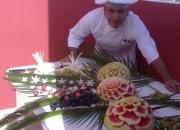 Cocina decorativa - tallado con frutas y verduras