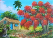 2 cuadros pintura artesania lienzo oleo mexico
