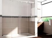 Diseño en baños. mampara de ducha nassau 160 cromo