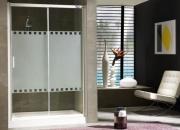 Diseño en baños. mampara de ducha quito 160cm bla…