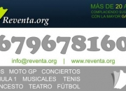 VENTA DE ENTRADAS PARA TODO TIPO DE EVENTOS WWW.REVENTA.ORG TEL. 679.678.160