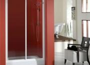 Diseño en baños. mampara de ducha sofía 100cm bla…