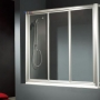 Diseño en Baños. Mampara de Bañera MACAY + LATERAL FIJO 99x70cm Plata Mate