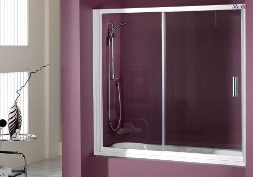 605 dise o en ba os mampara de ducha kobe 130cm cromo for Diseno de mamparas