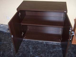 Mueble bajo oficina color wengue m laga espa a muebles for Muebles de oficina color wengue