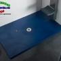 Platos de Ducha Stone. Plato de Ducha Modelo HURACÁN Fondo 100cm Azul Cobalto