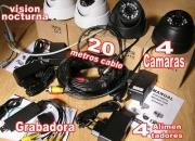 4 Camaras vigilancia grabadora casa, chalet, tienda, negocio