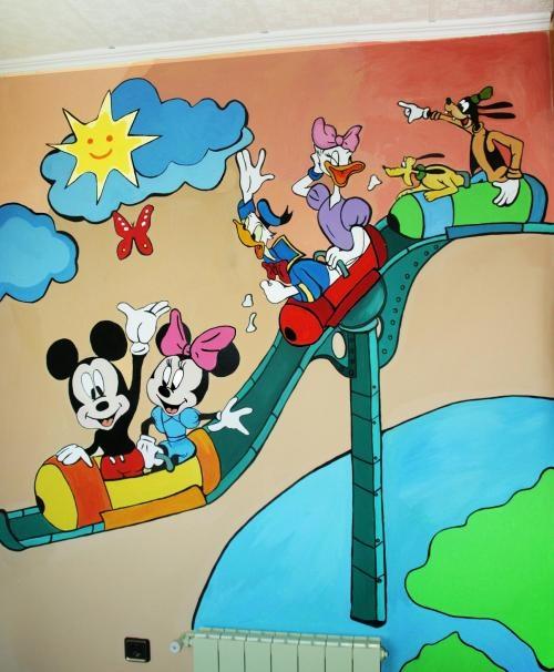 Murales infantiles para jardin de ni os imagui - Murales para ninas ...