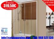 Mampara de Ducha KRATOS 130 Blanco,accesorios baño madera medidas. Alcala de Henares.