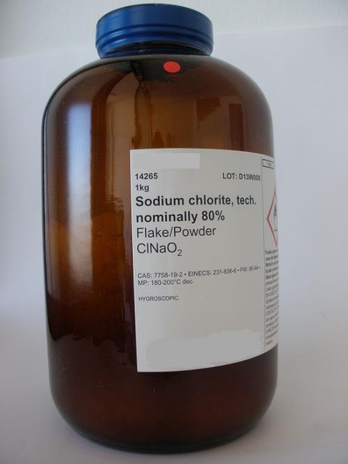 Venta de clorito de sodio 80%
