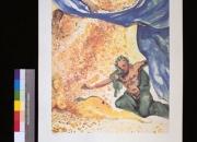 Los Enamorados: Adan y Eva. Litografia de Dali