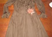 Vestido de fiesta marron