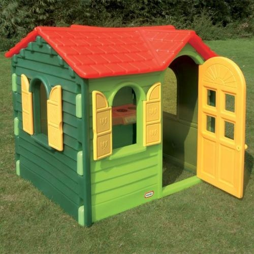 Casa campo verde casita jardin para nios casita plastico infantil