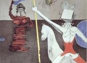 Fuera de la batalla. Grabado de Salvador Dali