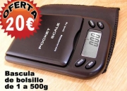 Bascula de precision de bolsillo puede pesar de 1 a  500gr