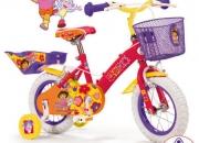 Bicicleta infantil dora la exploradora