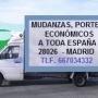 Mudanzas / portes / económicos / Madrid tel. 667034332