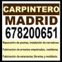 CARPINTERO ECONOMICO MADRID