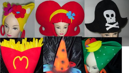 Moldes de sombreros con goma espuma para niños - Imagui