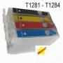 Cartuchos Recargables Epson T1281-T1282-T1283-T1284