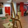 Clases de pintura, dibujo y escultura en Arte Rojo. Espacio Creativo