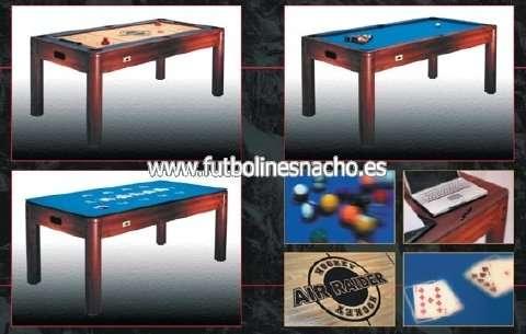 Billares,air hockey,poker,ping-pong