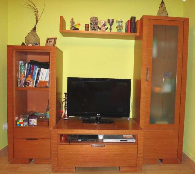 Mueble de sal n macizo color cerezo en bilbao muebles - Muebles de cerezo ...
