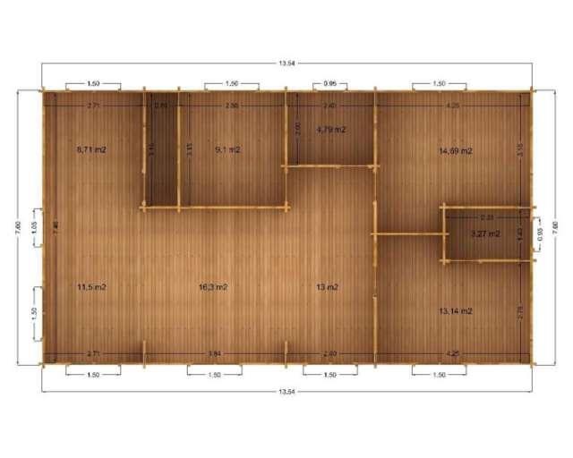 Casa de madera modelo sevilla de 103m2 en ciudad real - Casa madera sevilla ...