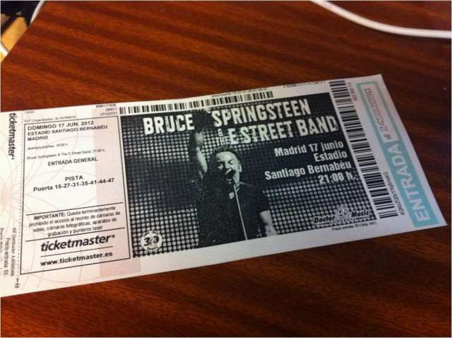 Bruce springsteen madrid julio 2012