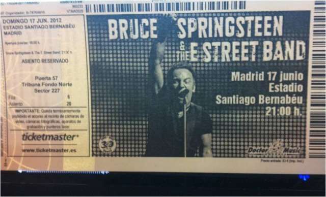 Vendo entradas bruce springsteen madrid 2012