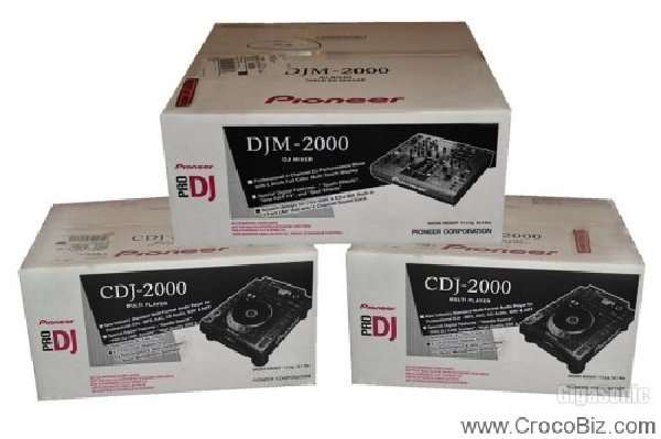 Pioneer cdj 2000 and djm 2000 dj package