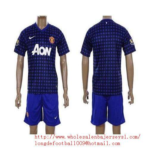 Manchester united blank 2011/2012 blue black strip away soccer club jersey