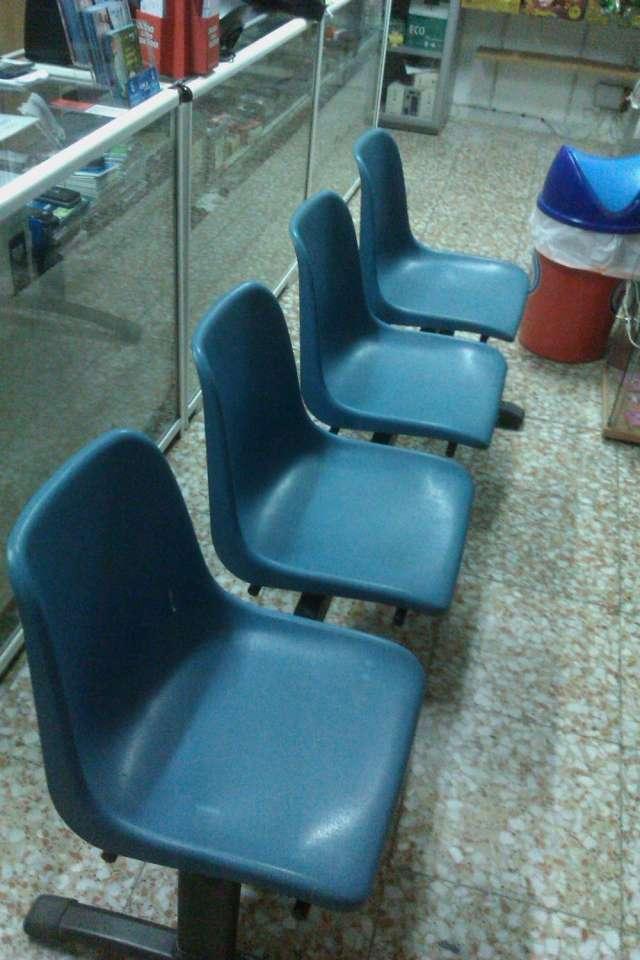 Sillas sala de espera - bancada 4 unidades
