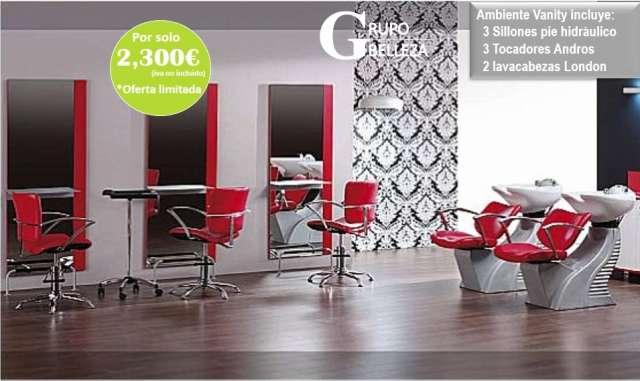 Muebles de peluquería completa 1840?, lavacabezas a 360?